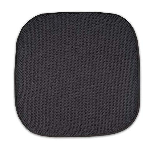 """Sweet Memory Chair Honeycomb Nonslip Cover 16"""" x 16"""", 6 Pack, Charcoal Gray"""