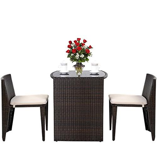 Goplus PCS Cushioned Outdoor Wicker Set Seat Sofa Furniture
