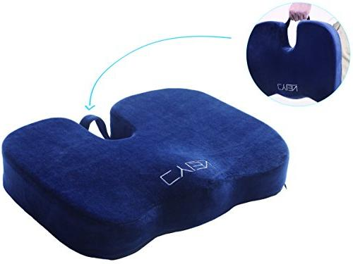 CYLEN Bamboo Charcoal Ventilated Seat - Blue Washable