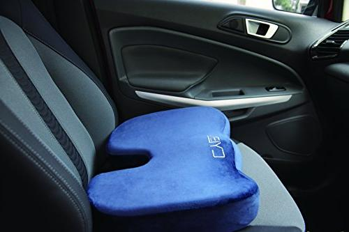 CYLEN Home-Memory Foam Charcoal Ventilated Seat Cushion - Washable & Breathable Cover