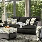 Dark Gray Chenille T-Cushion Seating Sofa An Loveseat Relax