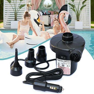 12V DC Electric Air Pump for Intex Inflatable Air Mattress B