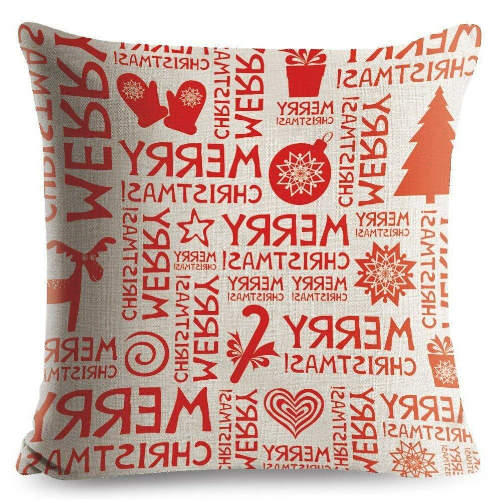 Decorative Merry Gift Cotton Seat Cushion