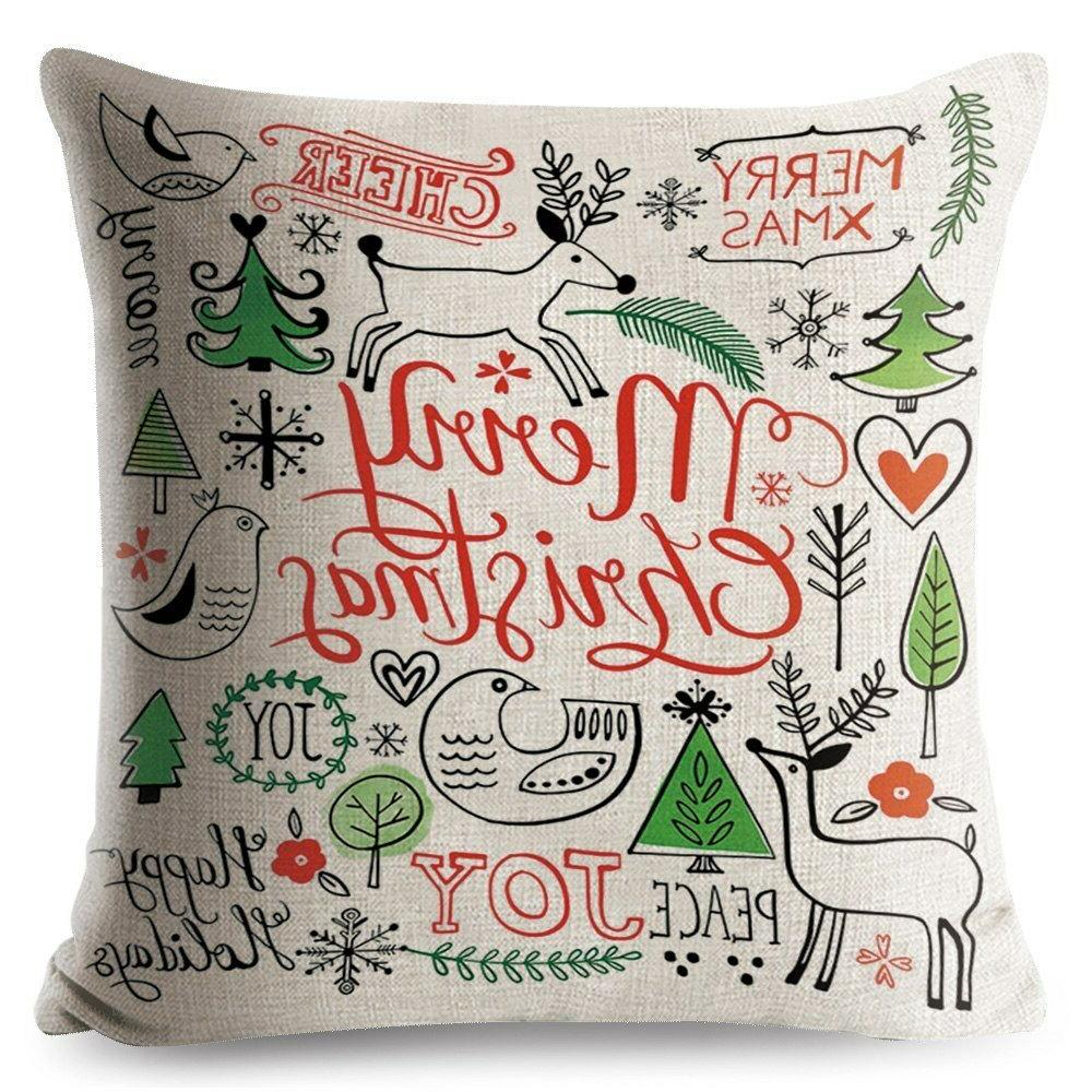 Decorative pillows Merry Christmas Gift Seat Cushion