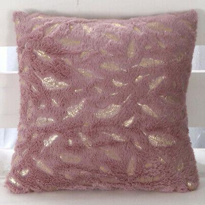 Decorative Throw Sofa Durable Pillow Cushion Pillowcases Zipper