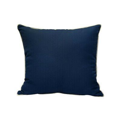 """Deep Cushion Pillow Polyester Blue x6"""""""