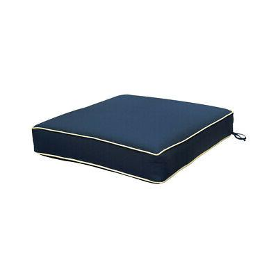"""Deep Seat Back Cushion Outdoor Polyester Blue 24""""x24"""""""