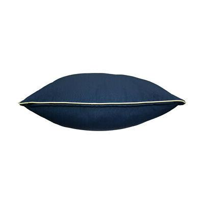 Deep Back Rest Cushion Outdoor Polyester Blue