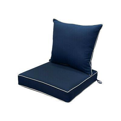 deep seat back rest cushion pillow outdoor