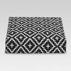 Threshold Deep Seat Cushion, Black Crinkle Diamond