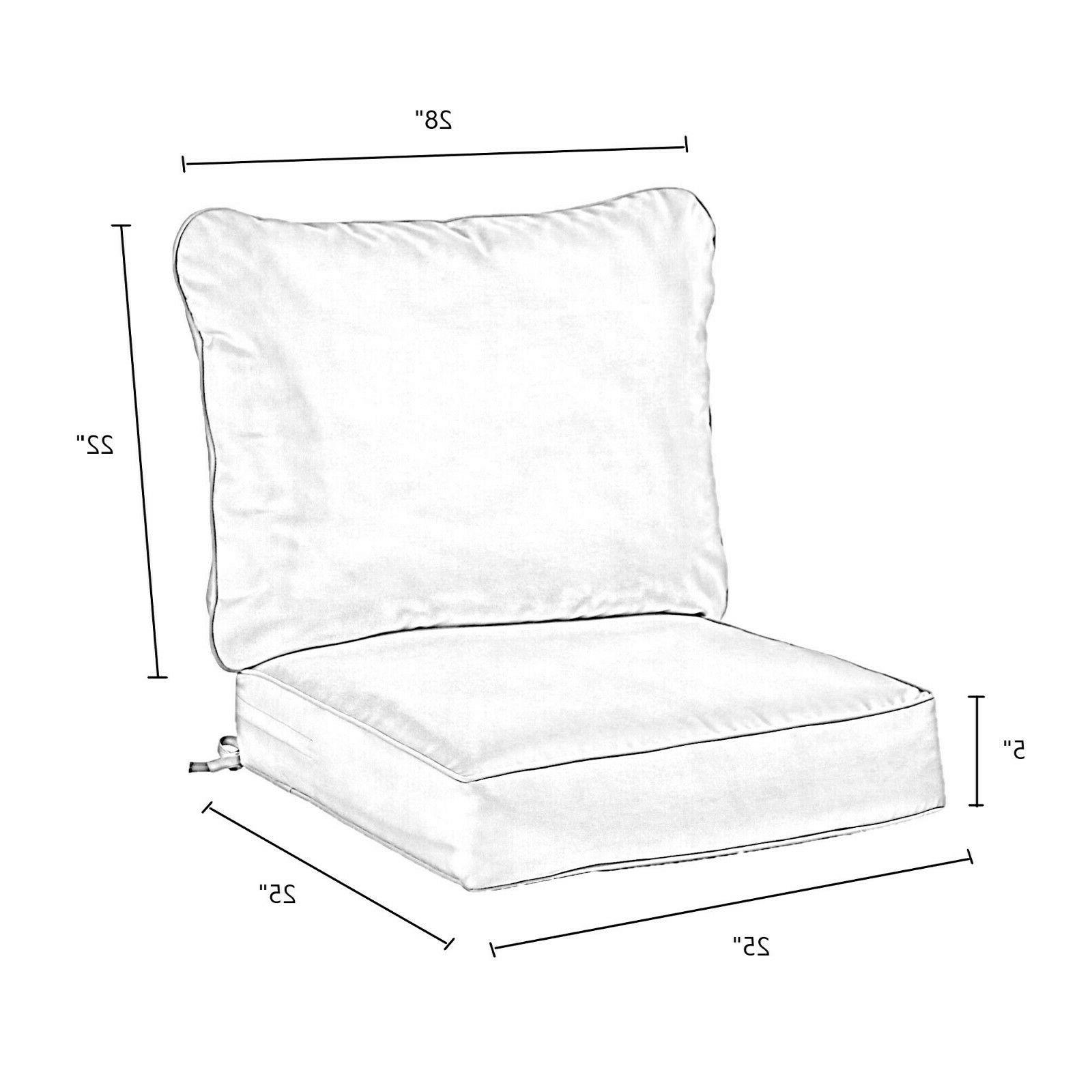 Outdoor Deep Seat Cushion Kiwi Replacement