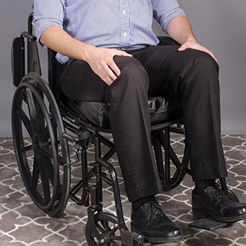 Duro-Med Wheelchair Cushion, Car Seat Cushion, Seat Riser Cushion, Lift Black