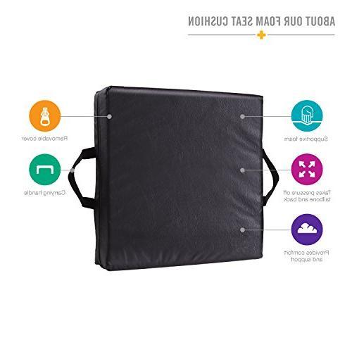 Duro-Med Car Seat Riser Cushion, Black