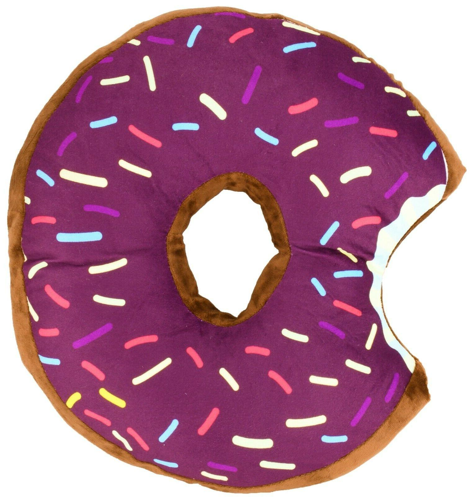 Donut Shaped Plush Sprinkled Comfy Seat Food Pillow Toy