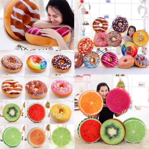 donut throw pillow case fruit seat pad