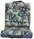 Double Bingo Seat Cushion - Neon Bingo Pattern - Purple