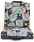 Double Bingo Seat Cushion - Star Bingo Pattern - Purple