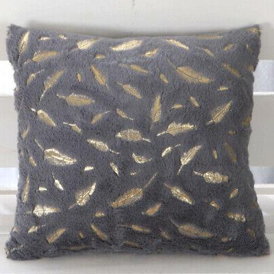 Decorative Throw Durable Cover Cushion Pillowcases Zipper