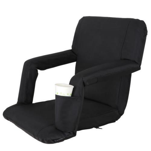 2 PCS Black Wide Stadium Cushion - 5 Positions