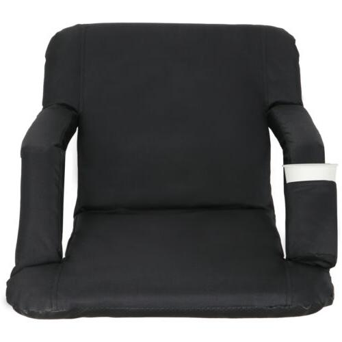 easy carry stadium seats chairs black bleachers