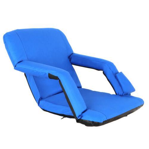 Easy Stadium Chairs Blue W/ Padded Cushion Backs