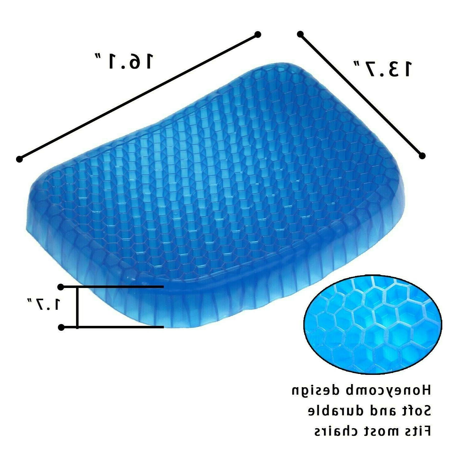 Egg Gel Seat Cushion Chair Pad with Cover
