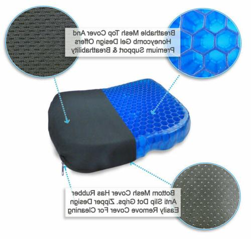 Egg Honeycomb Cooling Gel Support Seat Office Non-Slip Breathable Cover