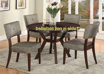 espresso finish fancy modern dining chairs cushion