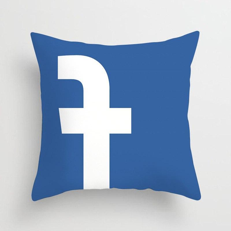 Fashion Soft <font><b>Square</b></font> Bed Cotton Pillowcase Print Ins Wechat Pillow <font><b>Seat</b></font>