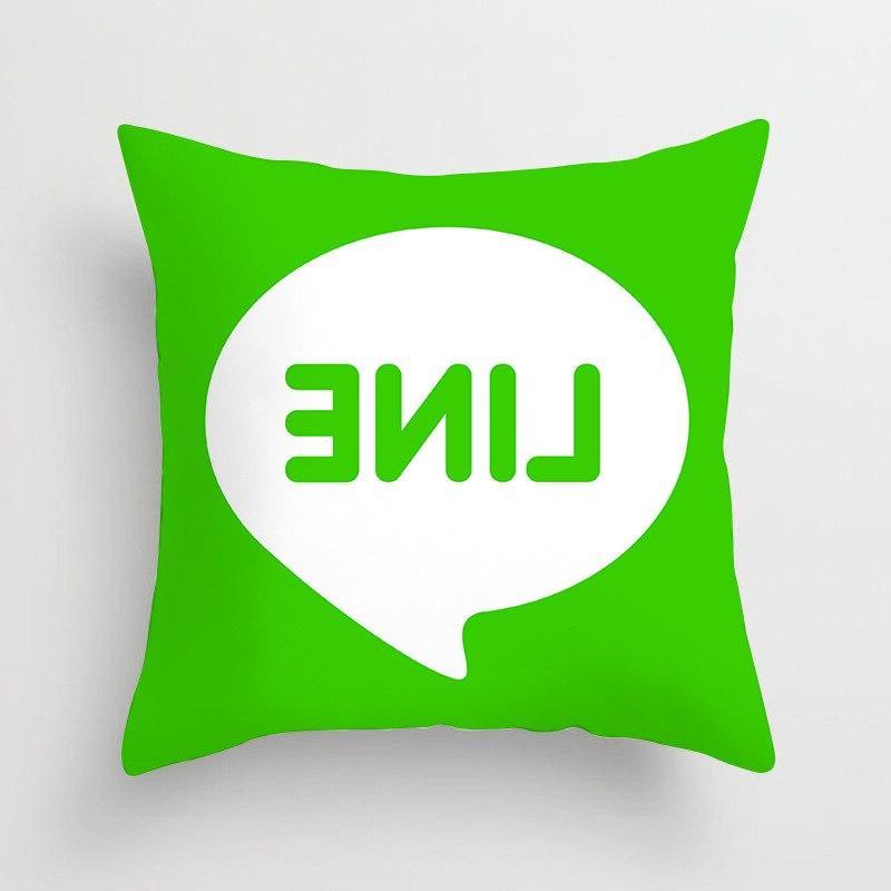 Fashion Soft Micro <font><b>Square</b></font> Sofa Bed Pillowcase Print Pattern Ins LOGO Pillow