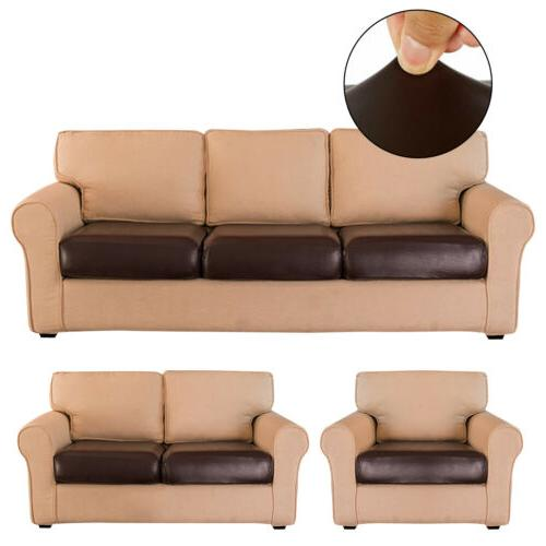 faux leather stretchy sofa seat cushion cover