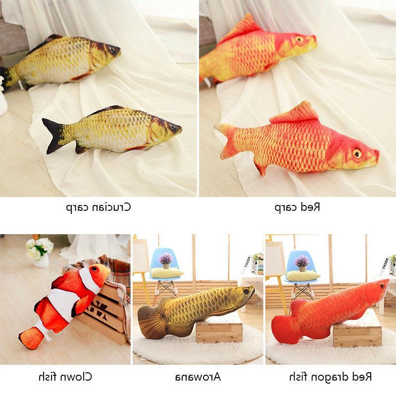 Fish Pillow Shape Doll Carp Stuffed Decorative Cushion Throw