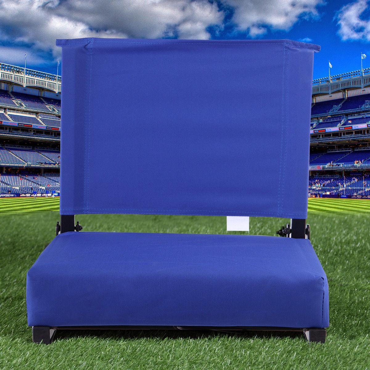 folding stadium chair bleacher cushion sport grandstand