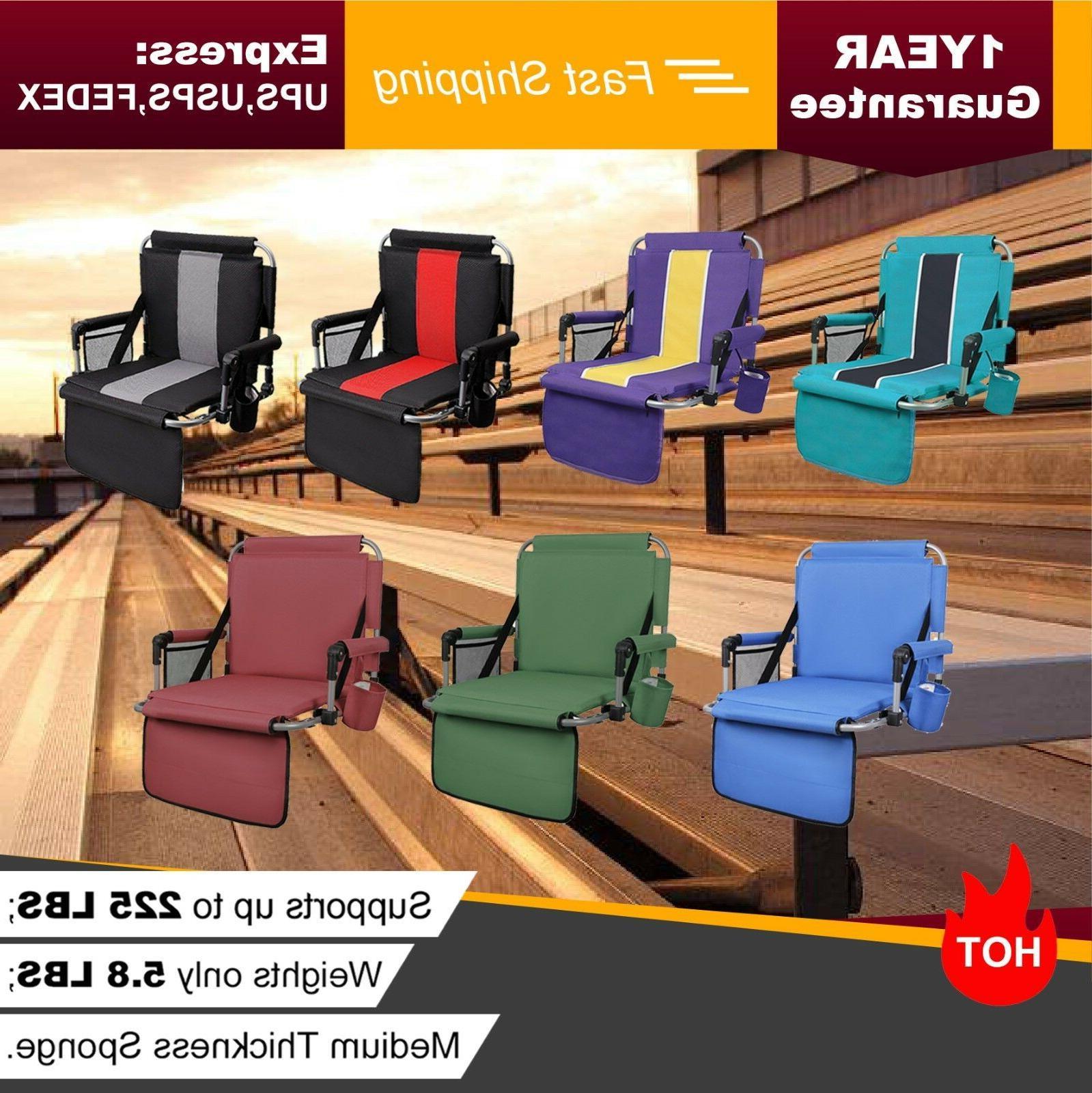 folding stadium seat cushion chair for bleachers
