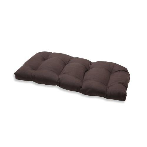 forsyth chocolate wicker loveseat cushion