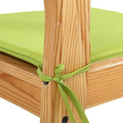WATERPROOF Chair Cushion Pads OUTDOOR Garden REMOVABLE .