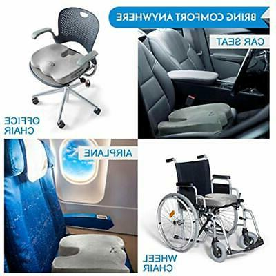 Gel Seat Cushions &ndash Non-Slip Orthopedic Memory Foam