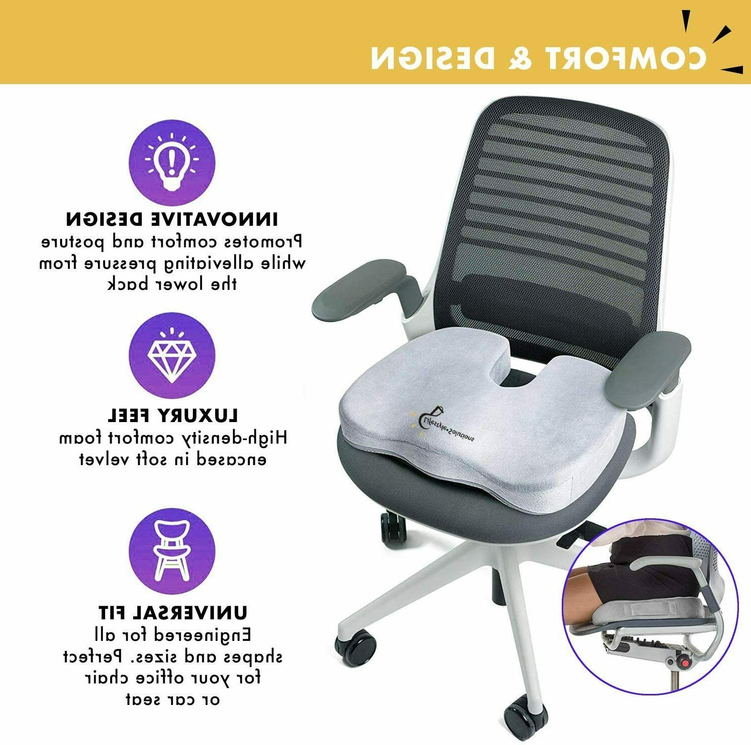 Cooling Gel Memory Coccyx & Chair Pillow Orthopedic