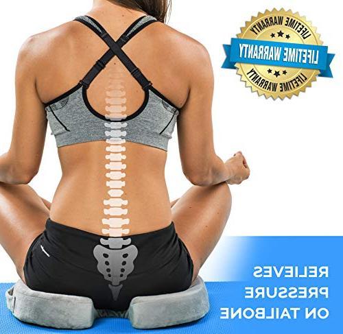 ComfiLife Gel Seat Cushion – Gel Foam Coccyx Cushion Pain Office Car Sciatica & Back Pain Relief