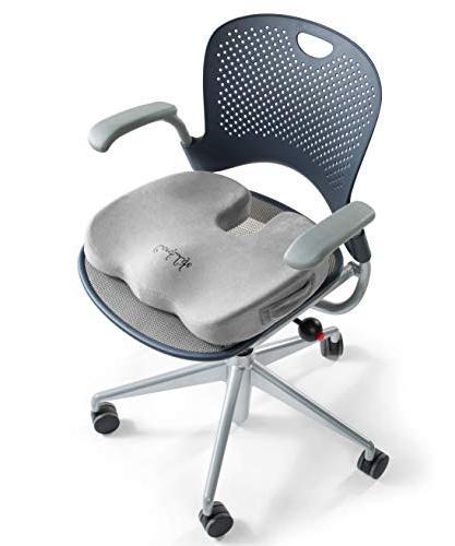 ComfiLife Gel Enhanced Cushion Orthopedic Gel & Foam Coccyx Cushion Tailbone Pain Car Cushion Sciatica Relief