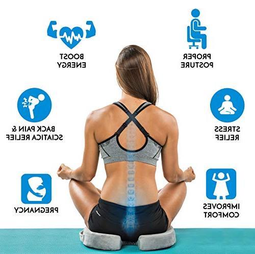 ComfiLife Seat Cushion Gel & Memory Coccyx Cushion Pain – Car – Sciatica & Relief