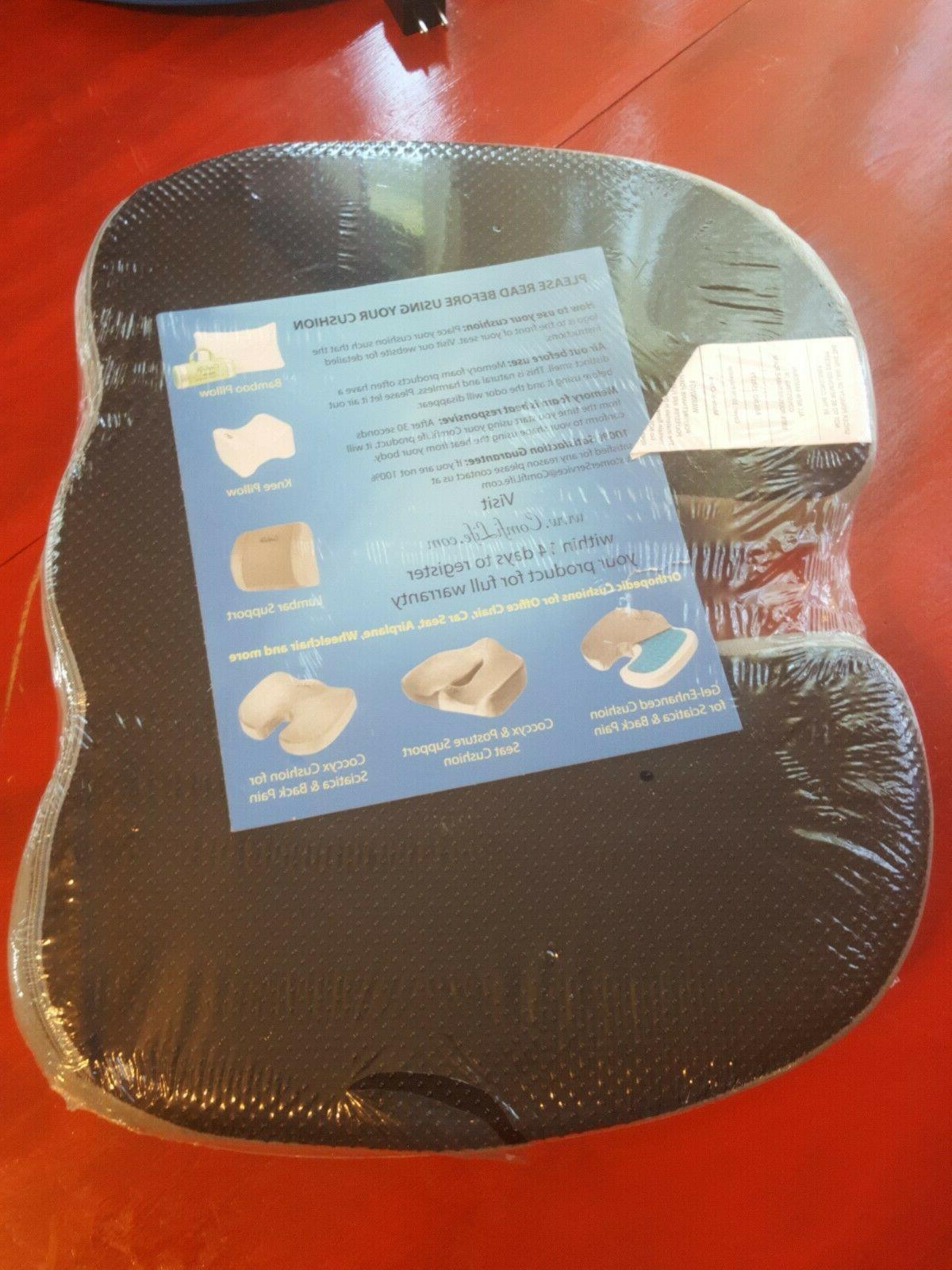 ComfiLife Gel Enhanced Cushion Lower back Relief SHIP