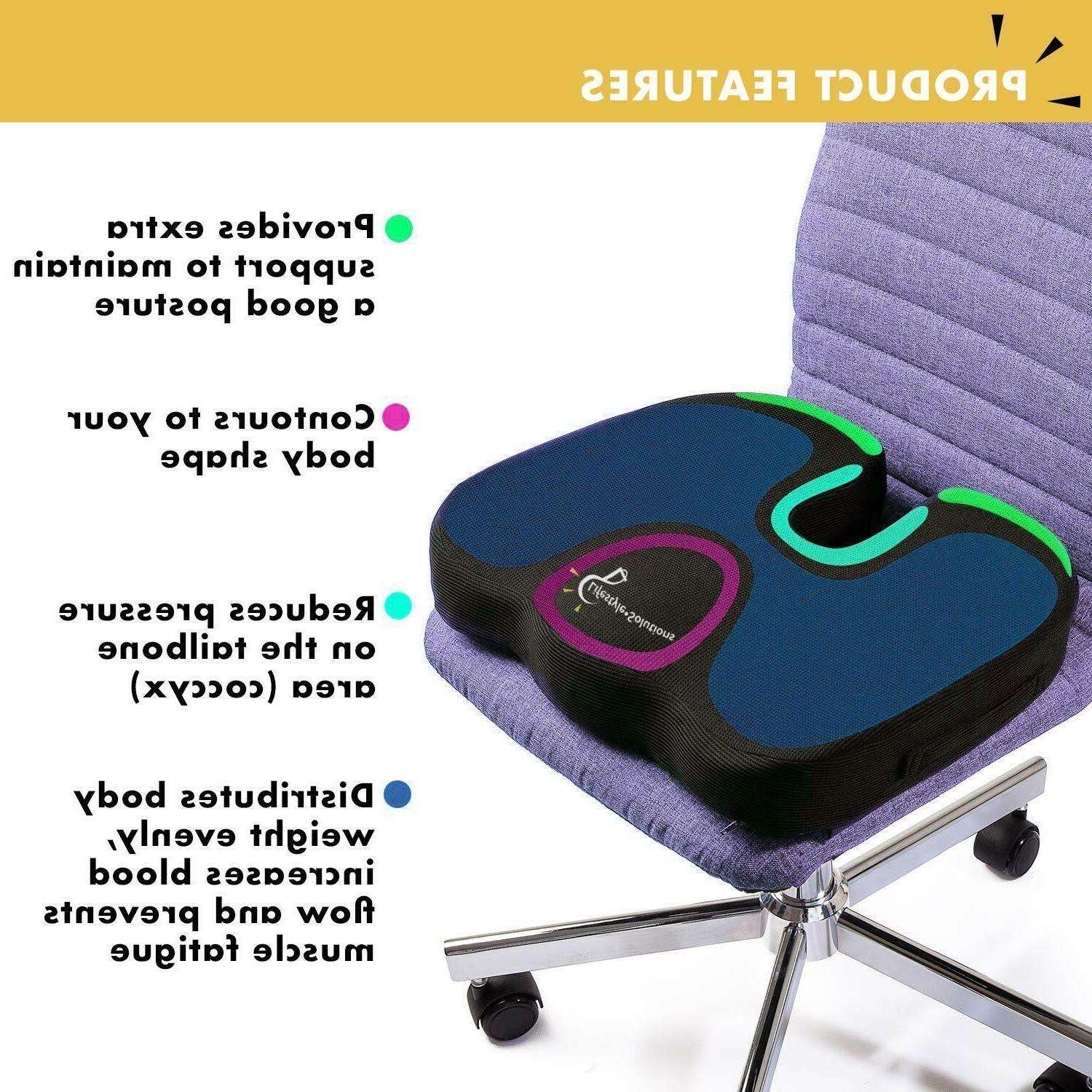 Gel Infused Memory Seat Cushion Design