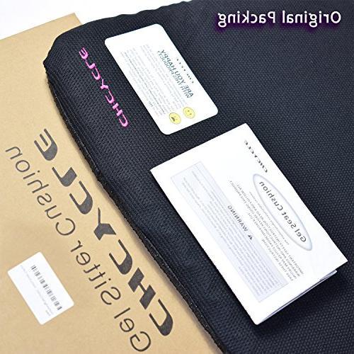 Gel Purple Design Gel Pad Provides Excellent Lower Venting Good Posture Car Wheelchair