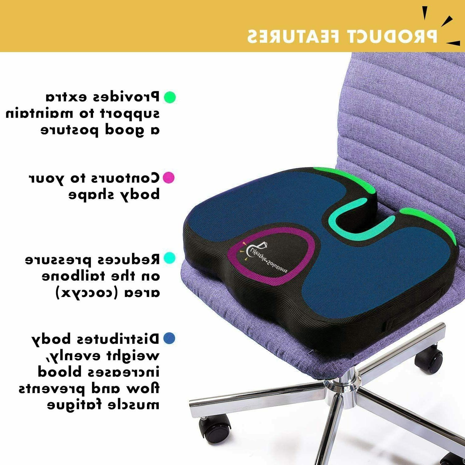Cooling Gel Enhanced Pillow Office Chair Pad