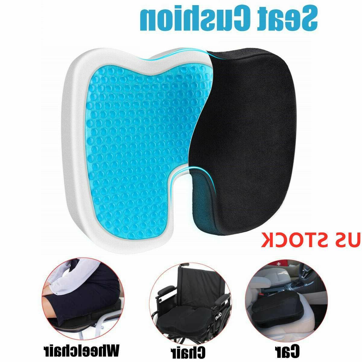 gel seat cushion enhanced memory foam seat