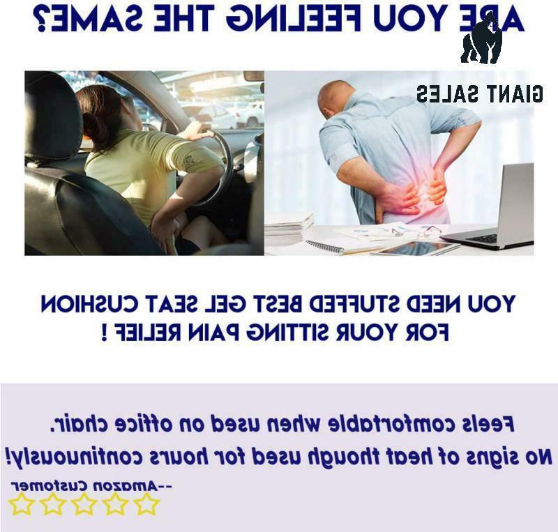 Gel Seat Cushion Long Sitting, Orthopedic Gel Memory For