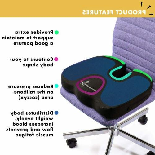Gel Cushion Cover Breathable Chair Memory Office Desk