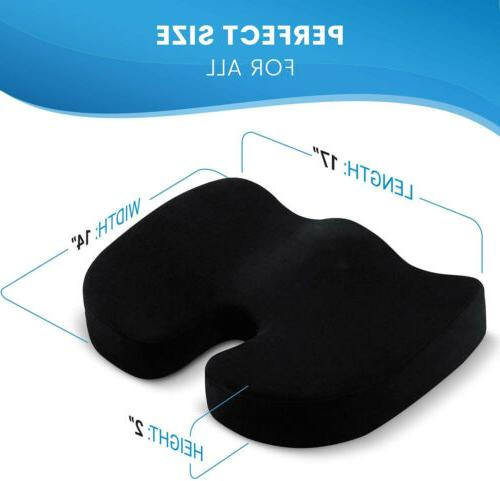Coccyx Seat Cushion W/ Cooling Support Contour Pillow US