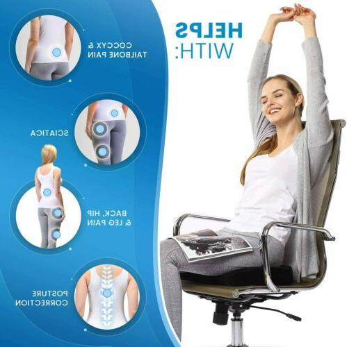 Gel Cushion Non-Slip Cover Breathable Chair Memory Pillow